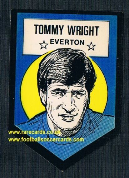 1972 BAB unused Shooting Stars Everton Tommy Wright LIGHT with backing paper